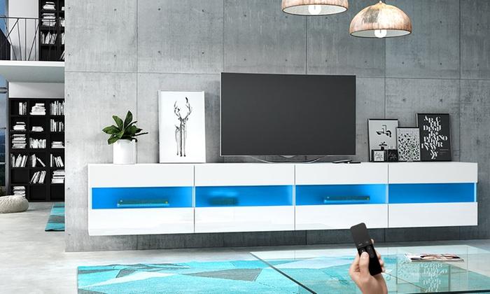 Selsey meuble tv suspendu groupon - Meuble tv suspendu led ...