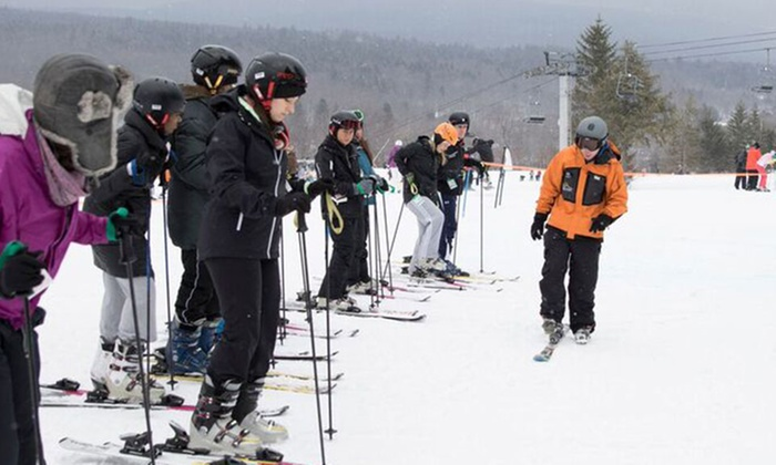 Sourced Adventures - Multiple Locations: $125 for One Hunter Mountain Learn to Ski Saturday Package with Transportation from Sourced Adventures ($157 Value)