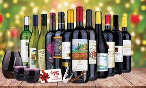 81% Off 12 Bottles of Premium Wine Bundle at Heartwood & Oak, plus 6.0% Cash Back from Ebates.