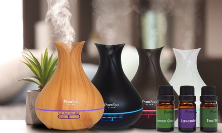 $34.95 for a PureSpa Ultra Aroma Diffuser with a ThreePack of Essential Oils Don't Pay $149