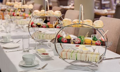 image for Afternoon High Tea with Sparkling Wine - 2 ($59) or 4 People ($109) at Straits Cafe-Rendezvous Hotel (Up to $236 Val)