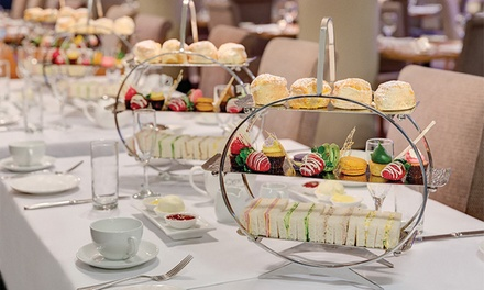 Afternoon High Tea with Sparkling Wine for Two $49 or Four People $96 at Straits Cafe, CBD Up to $196 Value
