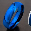 Men's Blue Ion Plated Rings in Stainless Steel