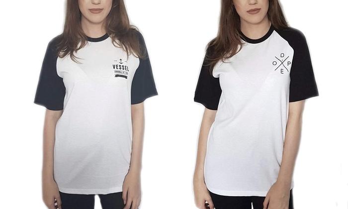 t-shirt femme style baseball