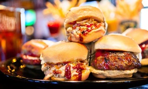 Tilted Kilt - Woodridge: $25 for Two Burgers and Two Draft Beers at Tilted Kilt ($40 Value)