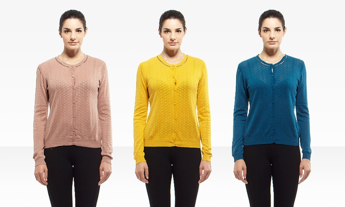 YAL NY Pointell Knit Cardigans: YAL NY Pointell Knit Cardigans. Multiple Colors Available. Free Shipping and Returns.