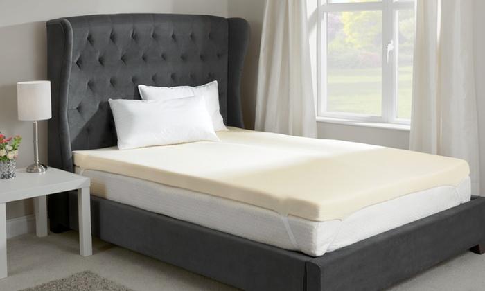 memory foam mattress topper groupon goods. Black Bedroom Furniture Sets. Home Design Ideas