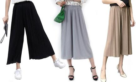 Geplooide broek voor dames