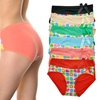 Angelina Mid-Rise Briefs with Colorful Prints and Bow Accent (6-Pack)