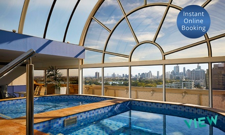 Melbourne: 1 or 2 Nights for Two People with Late CheckOut and Buffet Breakfast at Melbourne Parkview Hotel