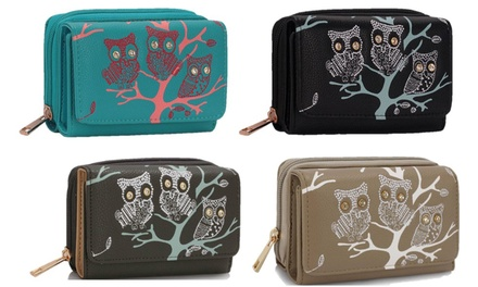 Owls in Tree Zipped Purse