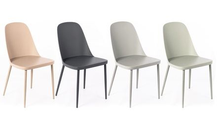 Sedie Bianche In Offerta.Set Di 4 Sedie In Polipropilene Sansa In 4 Colori Recensioni