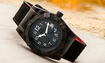 Shield Jarrod Mens Leather-Strap Watch