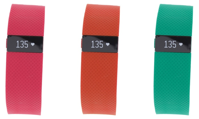 Fitbit Charge HR Activity Tracker: Tangerine, Pink and Teal