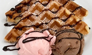 Gelato 101: Vegan Waffles with Two Scoops of Gelato Each for One (£6) or Two People ($12) at Gelato 101 (Up to $21 Value)