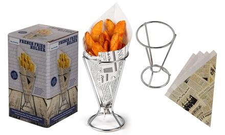 Supporto metallo per patate fritte