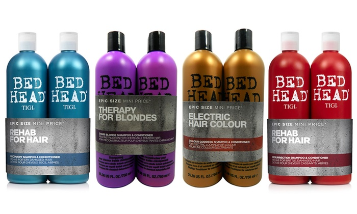 Groupon Goods Global GmbH: One or Two TIGI Bed Head Shampoo and Conditioner Sets 750ml