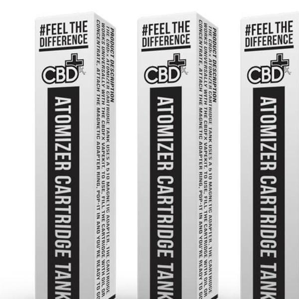 CBDfx CBD Oil V1 Atomizer Cartridge Tank from Vape Goods (4-Pack)