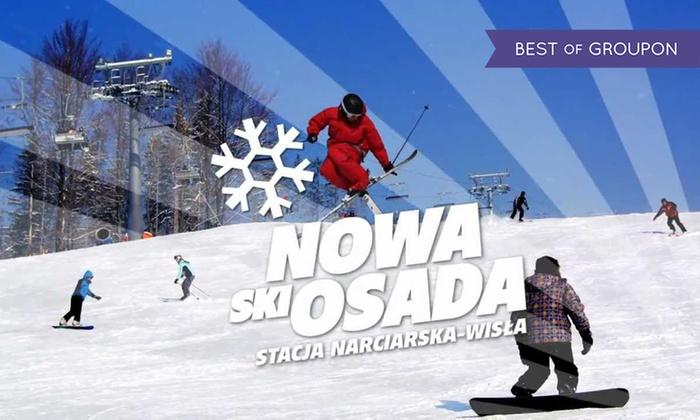 Stacja Narciarska Nowa Osada - Wisła: Wisła i narty: karnet na stok narciarski Nowa Osada dla 1 osoby od 59,99 zł (do -41%)
