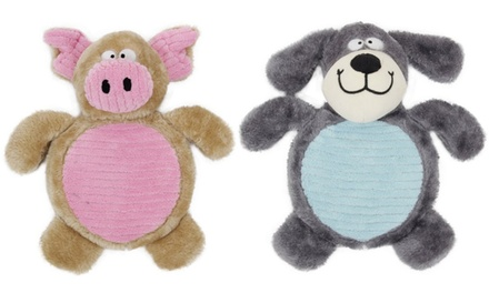 Pet Life Plush Squeaking Chew Dog Toy (2-Pack)