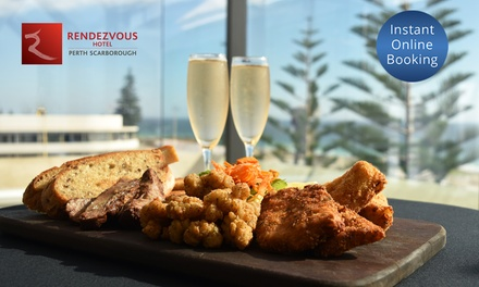 Seafood, Meat Or Veg Platter With Wine $29 or 4 $55 at Straits Cafe at the Rendezvous Hotel Up to $104 Value
