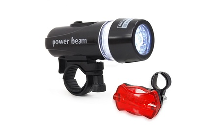 Kit de 5 luces LED impermeables para la parte delantera y trasera de la bici por 6,99 € (65% de descuento)