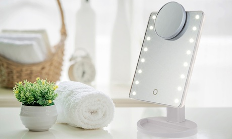 1 o 2 espejos táctiles de tocador con luz LED