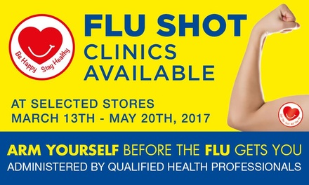 $10.99 for a Flu Vaccination Service at Chemist Warehouse Over 160 Locations