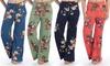 Women's Drawstring Floral Pants. Plus Sizes Available.