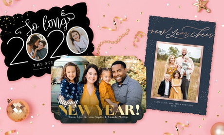 40, 70, or 100 Custom Holiday Photo Cards from PhotoAffections (Up to 78% Off )