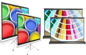 Projector Screen, Fold-Out & Roll-Up Projection Display, Tripod Stand