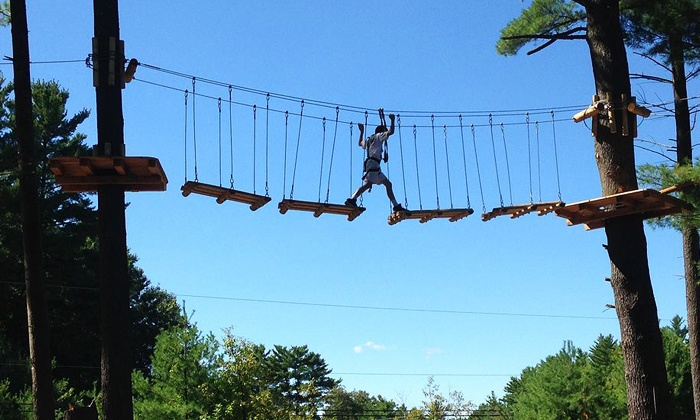Chuckster's Family Entertainment Center - Chichester: Aerial Adventure for One, Two, or Four at Chuckster's Family Entertainment Center (Up to 39% Off)