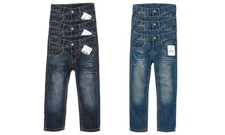 3x Nebulus Kinderjeans aus 100% Bio-Baumwolle im Used-Look, hell oder dunkel in verschiedenen Größen (Duesseldorf)