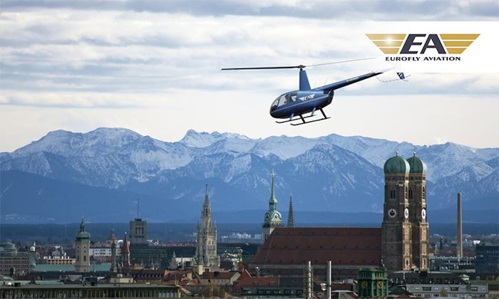 Eurofly Aviation GmbH - Mehrere Standorte: Helikopter-Rundflug über einer Stadt/Region nach Wahl für 1 oder 2 Personen mit Eurofly Aviation (bis zu 20% sparen*)