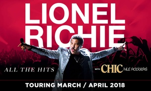 Lionel Richie - All the Hits: Lionel Richie: 40% Off Tickets, 29 March - 8 April 2018, Nationwide Tour