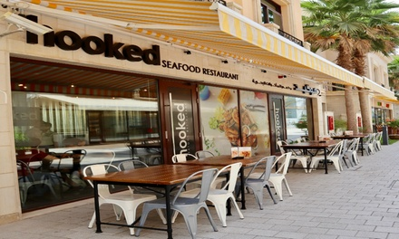 Up to AED 300 Toward Seafood Menu at Hooked Seafood Restaurant, Two Locations (Up to 47% Off)