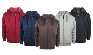 LeeHanTon Men's Solid Sherpa-Lined Hoodies