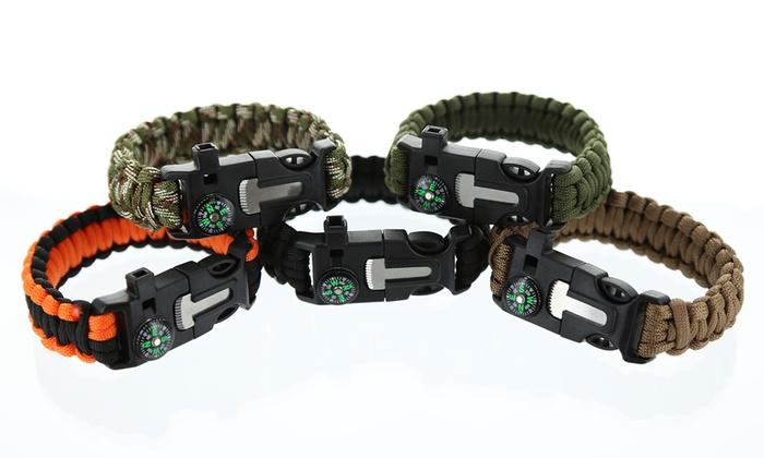 5-in-1 Fire Starter Bracelet (2-Pack)