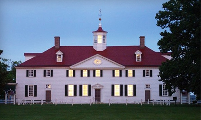 George Washington's Mount Vernon - Mount Vernon: $15 for a Candlelight Tour Package at George Washington's Mount Vernon (Up to $37 Value)