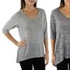 Women's Striped V-Neck Sweater