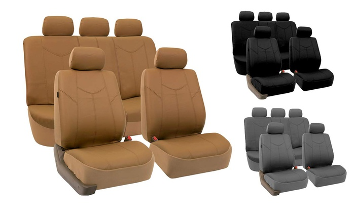 Universal Fit Durable PU Leather Seat Covers Set