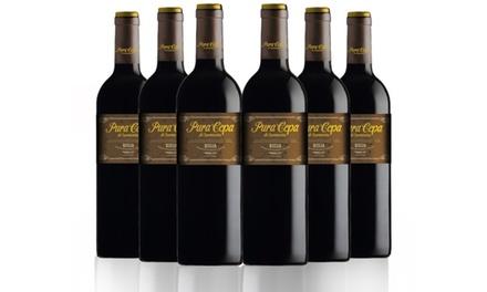 Caja de 6 o 12 botellas de vino tinto Pura Cepa reserva de 2010, D.O. Rioja (envío gratuito)