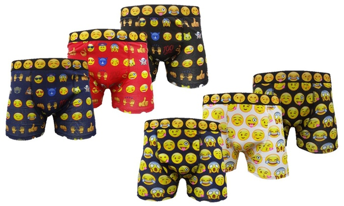 Six-Pack of Smiley Emoji Boxers for £12