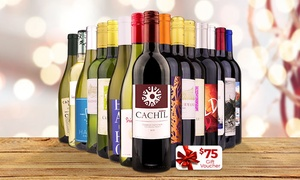 Wine Insiders: 15 Bottles of Wine and $75 e-Voucher from Wine Insiders (81% Off)