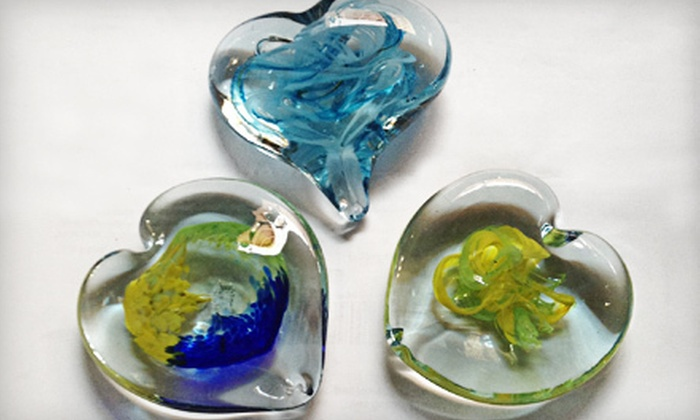 Glass Bubble Project - Ohio City: $40 for a Decorative-Heart Glass-Blowing Workshop at Glass Bubble Project ($80 Value). 16 Dates and Times Available.