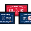 """MLB 10""""x20"""" Man Cave Signs with Authentic Game-Used Dirt"""
