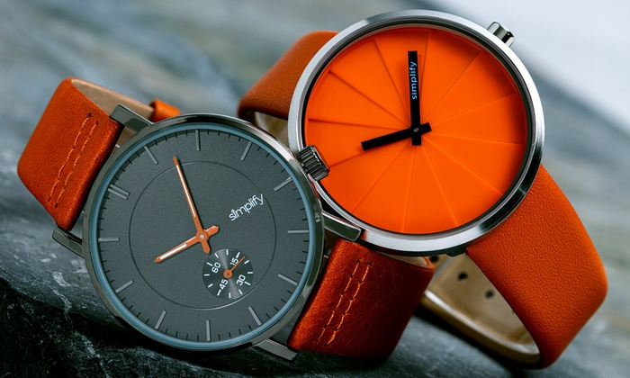 Simplify The 3600 or The 4000 Genuine Leather Watch