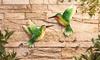 Metal Hummingbird Two-Piece Wall Art Set