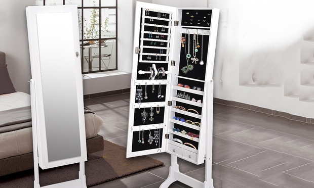 Mirrored Jewellery Cabinet Groupon