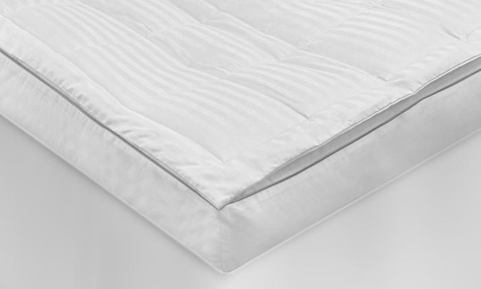 wonderdown 500tc memory foam u0026 fiber mattress topper wonderdown 500tc memory foam u0026 fiber mattress